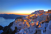 United Arab Emirates Prints - Romantic Santorini Print by Lars Ruecker