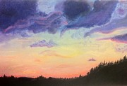 Beautiful Scenery Pastels Prints - Romantic Sky Print by Shea Libbey