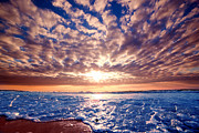 Wallpaper Art - Romantic sunset over ocean by Michal Bednarek