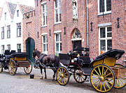 Horse And Cart Prints - Romantic Taxi  Print by Kevin Askew
