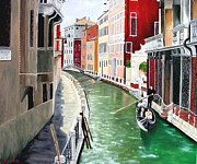 Zelma Hensel Framed Prints - Romantic Venice Framed Print by Zelma Hensel
