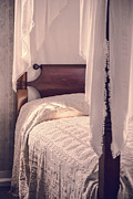Novel Photo Metal Prints - Romantic Vintage Bedroom Metal Print by Edward Fielding
