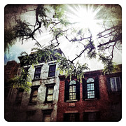 Nyc Digital Art Metal Prints - Romantic West Village Metal Print by Natasha Marco
