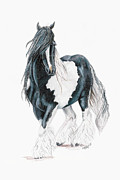 Gypsy Drawings Prints - Romany Raklo Print by Kyanna Fejes