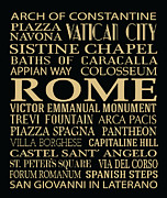 Bus Roll Art - Rome Attractions by Jaime Friedman
