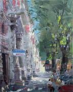 Rome Cityscape Paintings - Rome Dal Barbiere Mario by Ylli Haruni