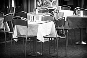 Italian Restaurant Posters - Rome Empty Tables Poster by John Rizzuto