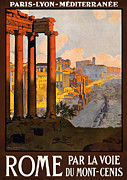 20s Digital Art Prints - Rome par la voie du Mont-Cenis Print by Nomad Art And  Design
