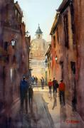 City Buildings Painting Framed Prints - Rome Framed Print by Ryan Radke