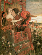 Couple In Love Paintings - Romeo and Juliet by Ford Madox Brown