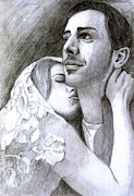 Passion Drawings Posters - Romeo and Juliette Poster by Crina M Benedek
