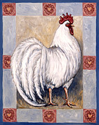 Bird Art - Romeo the Rooster by Linda Mears