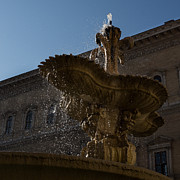 Romance Renaissance Photos - Romes Fabulous Fountains - Piazza Farnese Fountain by Georgia Mizuleva
