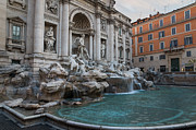 Rome's Fabulous Fountains - Trevi Fountain - No Tourists Print by Georgia Mizuleva