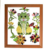 Cats Tapestries - Textiles Prints - RomKat Print by Frederic Kohli