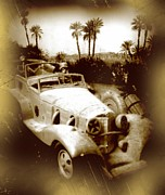 Rat Rod Art Mixed Media Prints - Rommel Desert Rat Print by John Malone