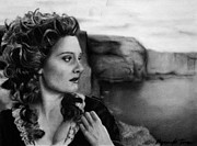 18th Century Drawings - Romola Garai by Myranda Jones