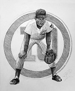 Mlb Baseball Drawings Originals - Ron Santo by Adam Barone