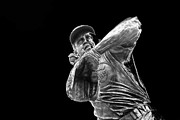 Hall Of Fame Art - Ron Santo - H O F by David Bearden