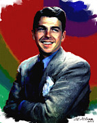 Motion Picture Star Prints - Ronald Reagan Print by Allen Glass