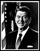 Ronald Framed Prints - Ronald Reagan Framed Print by Benjamin Yeager