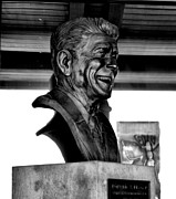 Ronald Reagan Posters - Ronald Reagan Bust 2 Poster by Cindy Nunn