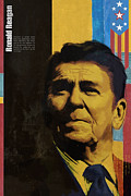 Ronald Reagan Print by Corporate Art Task Force