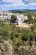Pueblo Blanco Metal Prints - Ronda Houses on a Rock Metal Print by Artur Bogacki
