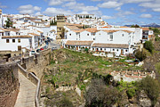 Pueblo Blanco Metal Prints - Ronda Old City in Spain Metal Print by Artur Bogacki