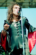 Concerts Prints - Ronnie James Dio of Black Sabbath during 1980 Heaven and Hell Tour  Print by Daniel Larsen