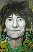 Ronnie Wood Art - Ronnie Wood by Tamara Vogrin