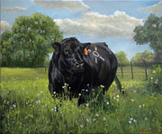 Angus Paintings - Roo by Jeanne Newton Schoborg