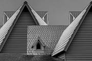 Shingles Framed Prints - Roof Lines Framed Print by Debra and Dave Vanderlaan