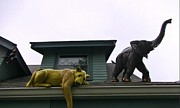 Veterinary Prints - Roof Top Menagerie Print by John Malone