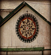 Pa Barns Prints - Roofline Hex Print by Brenda Conrad