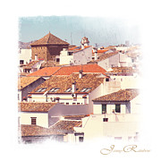 Red Roofs Photos - Roofs of Ronda. Mini-Ideas for Interior Design by Jenny Rainbow