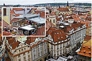 Town Square Prints - Rooftop Dining - Prague Print by Jon Berghoff