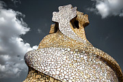 Chimneys Prints - Rooftop of La Pedrera Print by Joanna Madloch