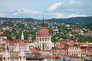 Rooftop Prints - Rooftop of Parliament Building in Budapest Print by Artur Bogacki