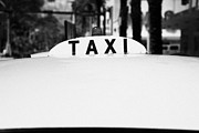 Rooftop Framed Prints - Rooftop Taxi Sign On Roof Of Cab In Miami South Beach Florida Usa Framed Print by Joe Fox