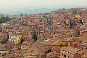 Rooftop Framed Prints - Rooftop View of Siena Italy Framed Print by Kim Fearheiley