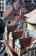 Czechia Framed Prints - Rooftops of Prague in Czechia Europe Framed Print by Stephan Pietzko