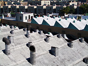 Rooftops Of South Bronx Print by Cynthia Lagoudakis