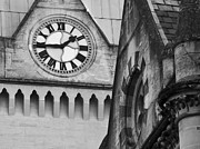 Clock Hands Framed Prints - Rooftops Framed Print by Steven Poulton