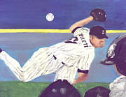 Baseball Paintings - Rookie Beckett #61 by Jorge Delara