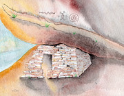 Hopi Indian Paintings - Room with a View by Jerry McElroy