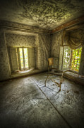 Creepy Digital Art Prints - Room with a view Print by Nathan Wright