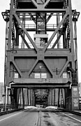 Roosevelt Photo Framed Prints - Roosevelt Island Bridge BW Framed Print by JC Findley