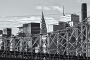 Tram Prints - Roosevelt Island Tram and Manhattan Skyline II Print by Clarence Holmes