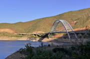 Blue Water Art - Roosevelt Lake Bridge Arizona by Christine Till